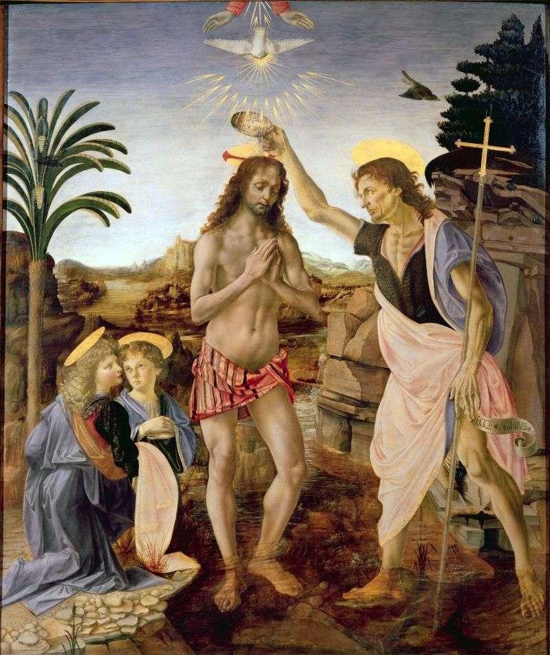 معمودية المسيح   أندريا ديل فيروتشيو