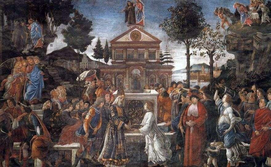 شفاء الأبرص وإغراء المسيح   ساندرو بوتيتشيلي