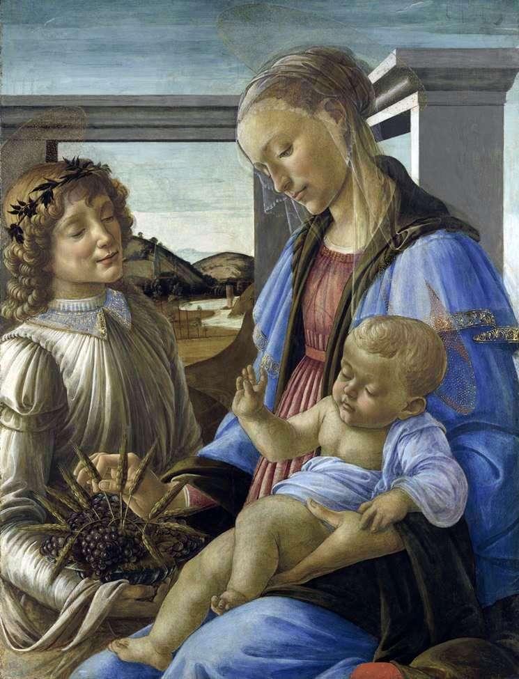 مادونا مع الطفل والملاك (مادونا من القربان المقدس)   ساندرو بوتيتشيلي