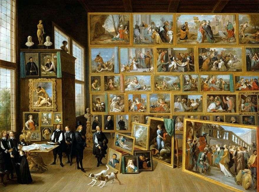 الأرشيدوق ليوبولد فيلهلم من النمسا في معرضه في بروكسل   ديفيد تينيرز