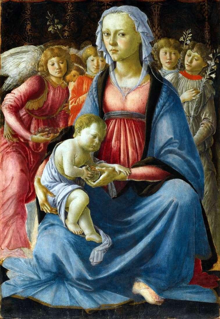 مادونا والطفل مع خمسة ملائكة   ساندرو بوتيتشيلي