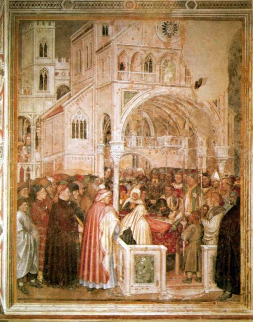 سانت لوسيا على فراش الموت. 1379 84   Altiquiero da Zevio