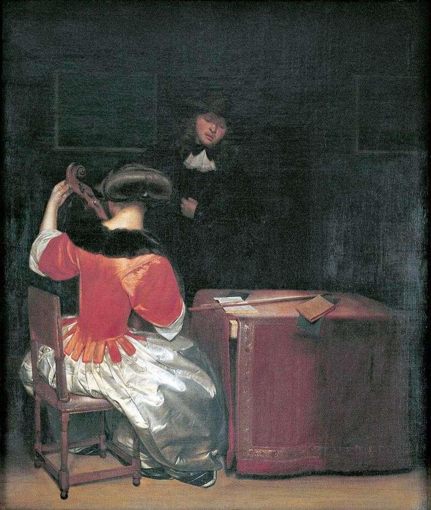 درس الموسيقى   جيرارد تيربورك