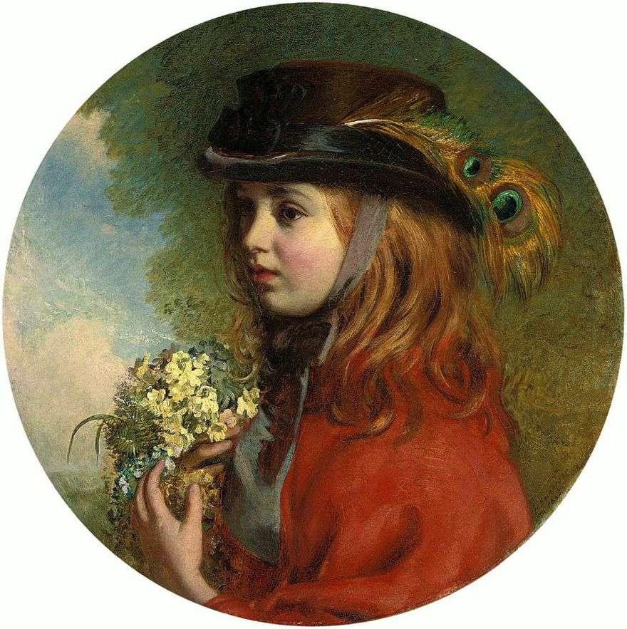 الربيع (صورة لفتاة مع باقة)   هنري هيذرنغتون إيمرسون