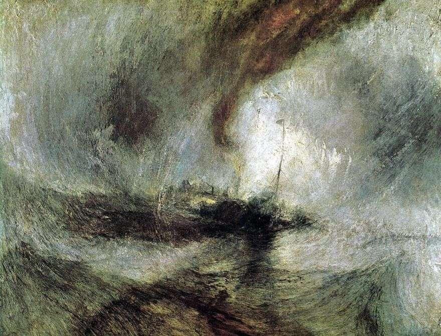 عاصفة ثلجية. سفينة بخارية عند مدخل الميناء   ويليام تيرنر