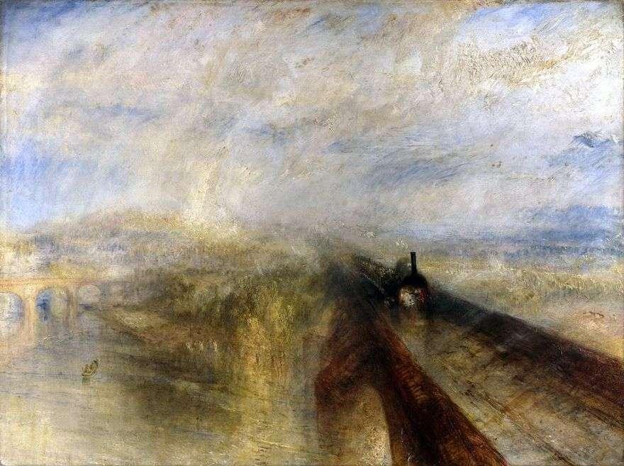 المطر والبخار والسرعة. السكك الحديدية الغربية العظمى   وليام تيرنر