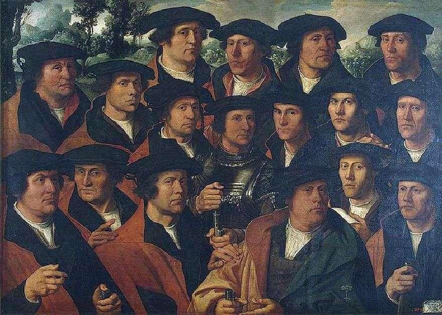 صورة جماعية لمؤسسة الرماة في أمستردام   Jacobs Dirk &; nbsp