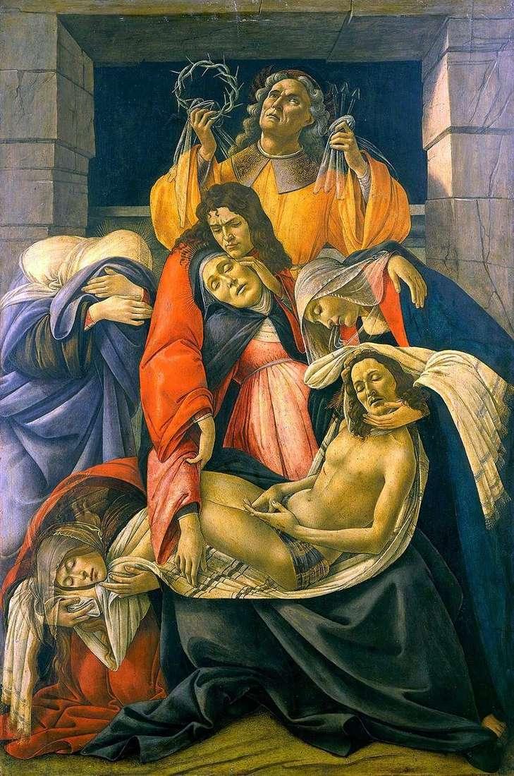 رثاء المسيح   ساندرو بوتيتشيلي