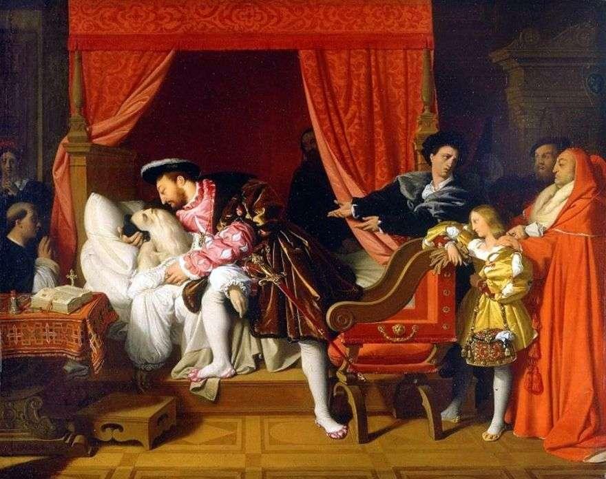 وفاة ليوناردو بين أحضان فرانسيس الأول   جان أوغست دومينيك إنجرس
