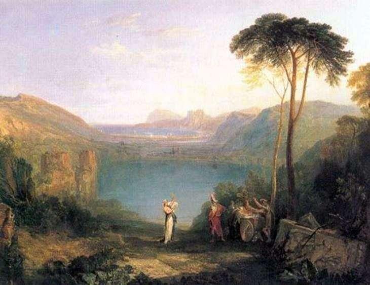 بحيرة أفيرن: إيناس وروح كوما   ويليام تيرنر