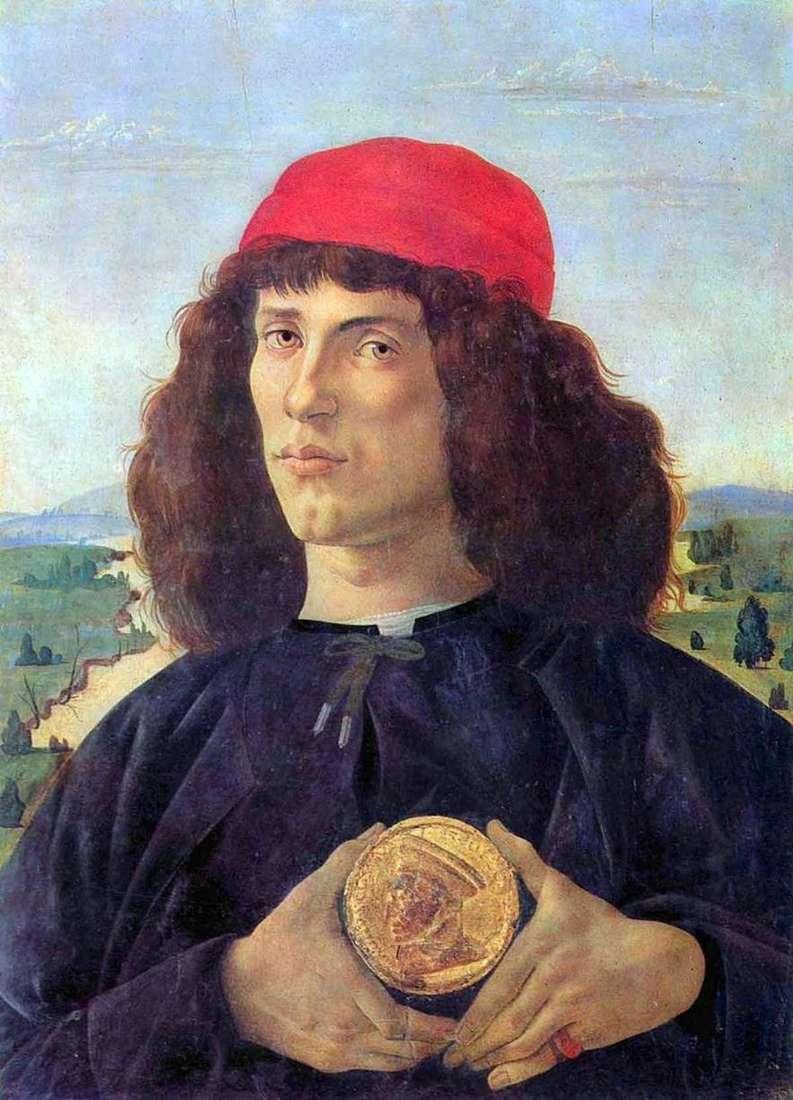 صورة لرجل يحمل ميدالية   ساندرو بوتيتشيلي