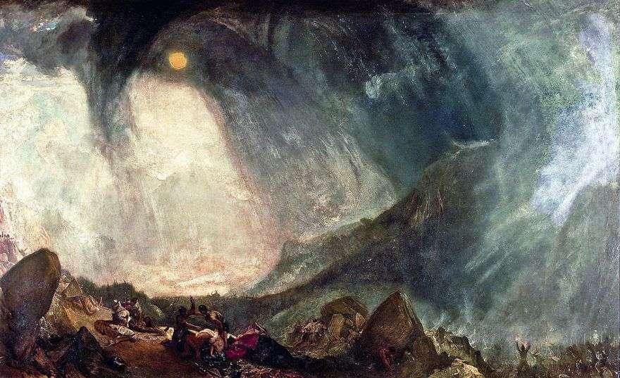عاصفة ثلجية جيش حنبعل يعبر جبال الألب   ويليام تيرنر