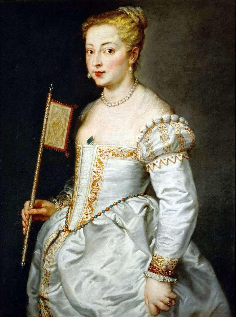صورة لسيدة ترتدي ثوبًا أبيض   تيتيان فيشيليو