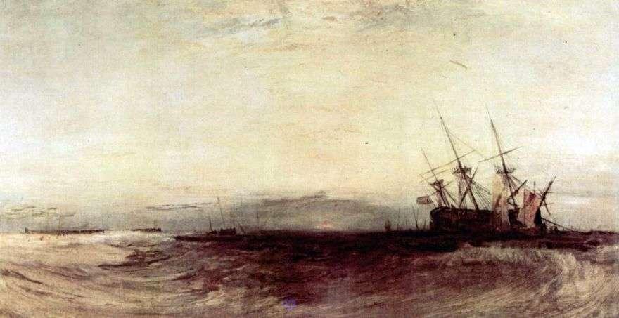 غرق السفينة   وليام تيرنر