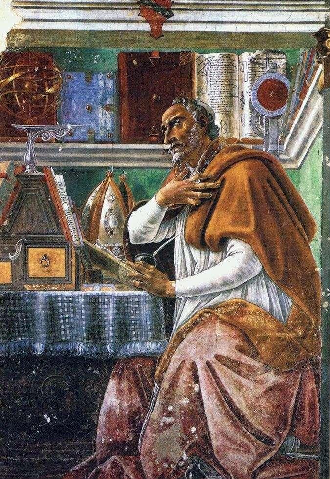 القديس أغسطينوس المبارك   ساندرو بوتيتشيلي
