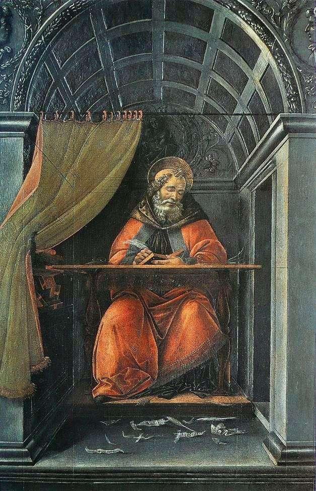 القديس أوغسطين ، يكتب في زنزانته   ساندرو بوتيتشيلي