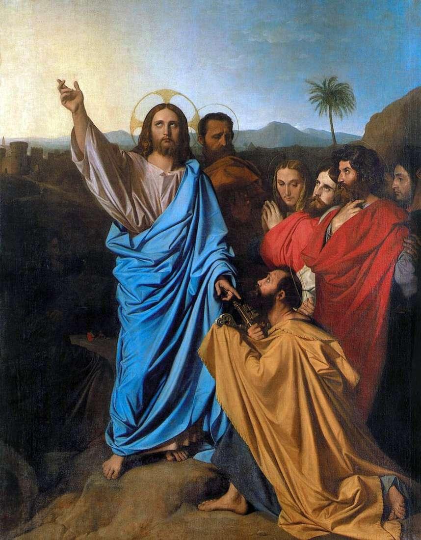 المسيح نقل sv. بيتر مفاتيح الجنة   جان أوغست دومينيك إنجرس