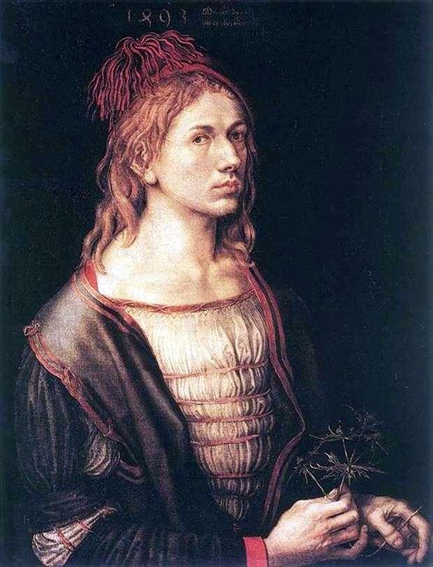 بورتريه ذاتي عام 1493   ألبريشت دورر