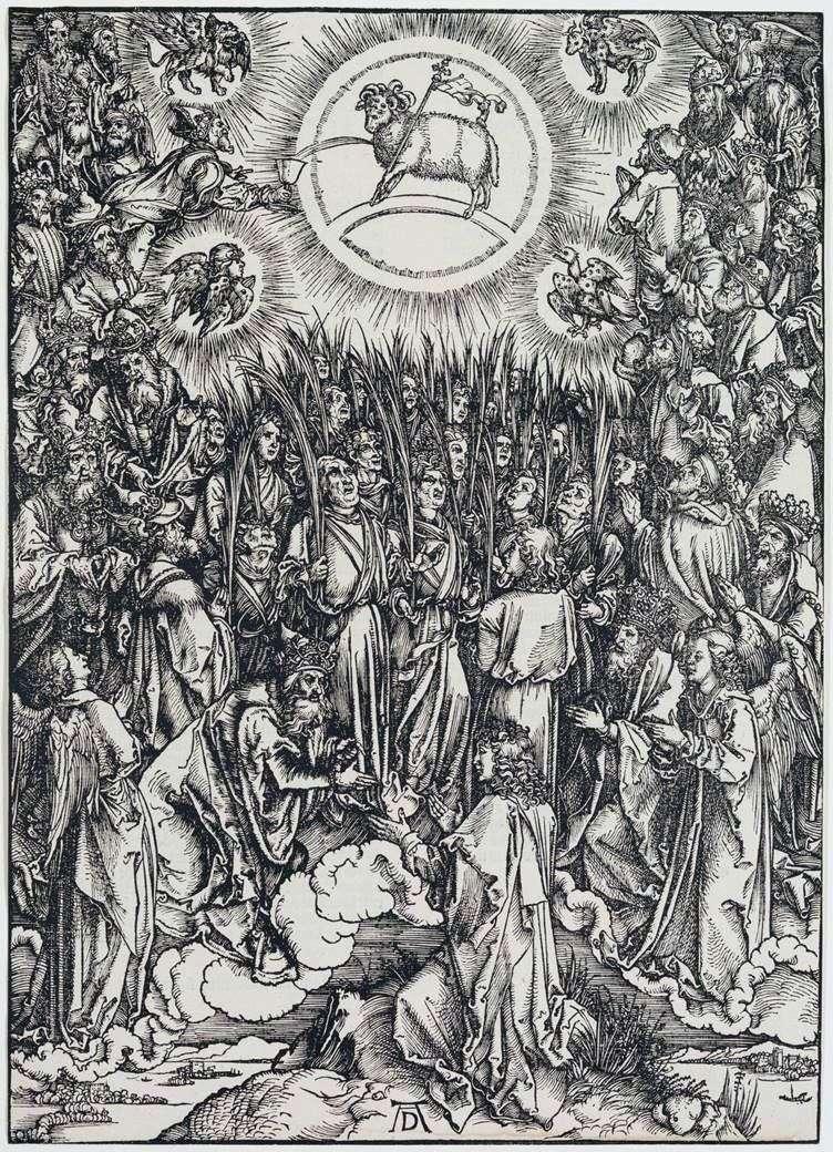 حمل الله والنشيد إلى المختار. نقش   ألبريشت دورر