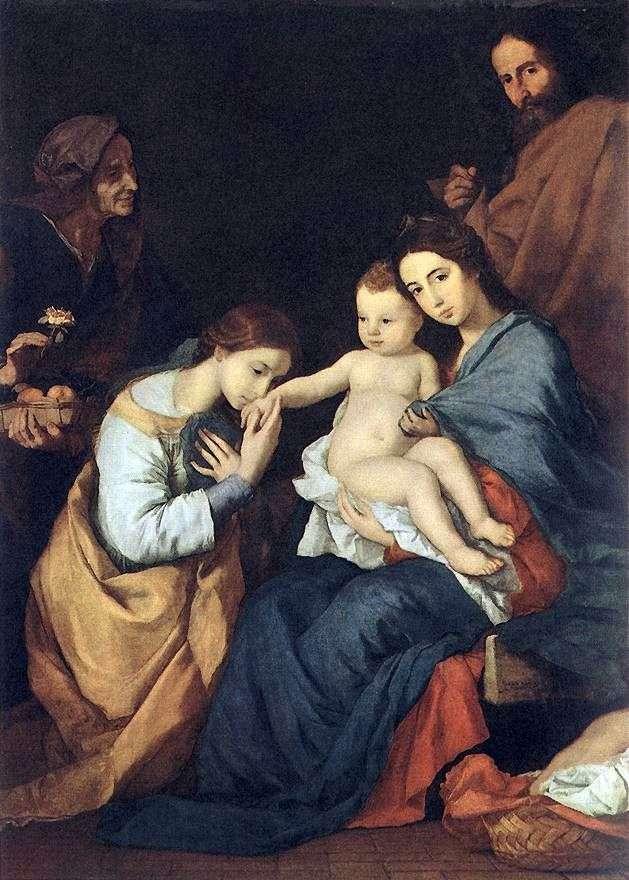 العائلة المقدسة مع سانت كاترين   جوسيب دي ريبيرا