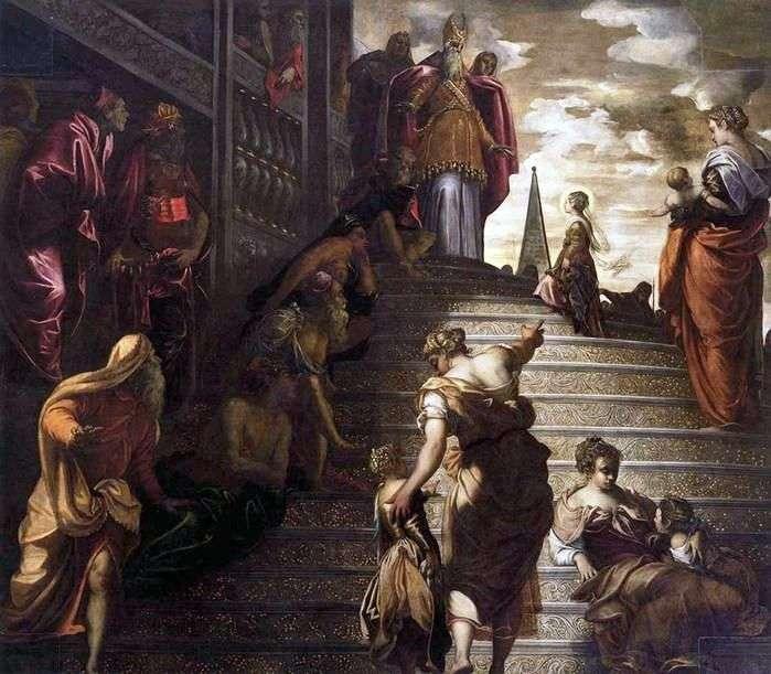 مقدمة مريم إلى المعبد   جاكوبو تينتوريتو