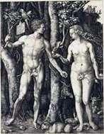 آدم وحواء (مجتمعين)   ألبريشت دورر