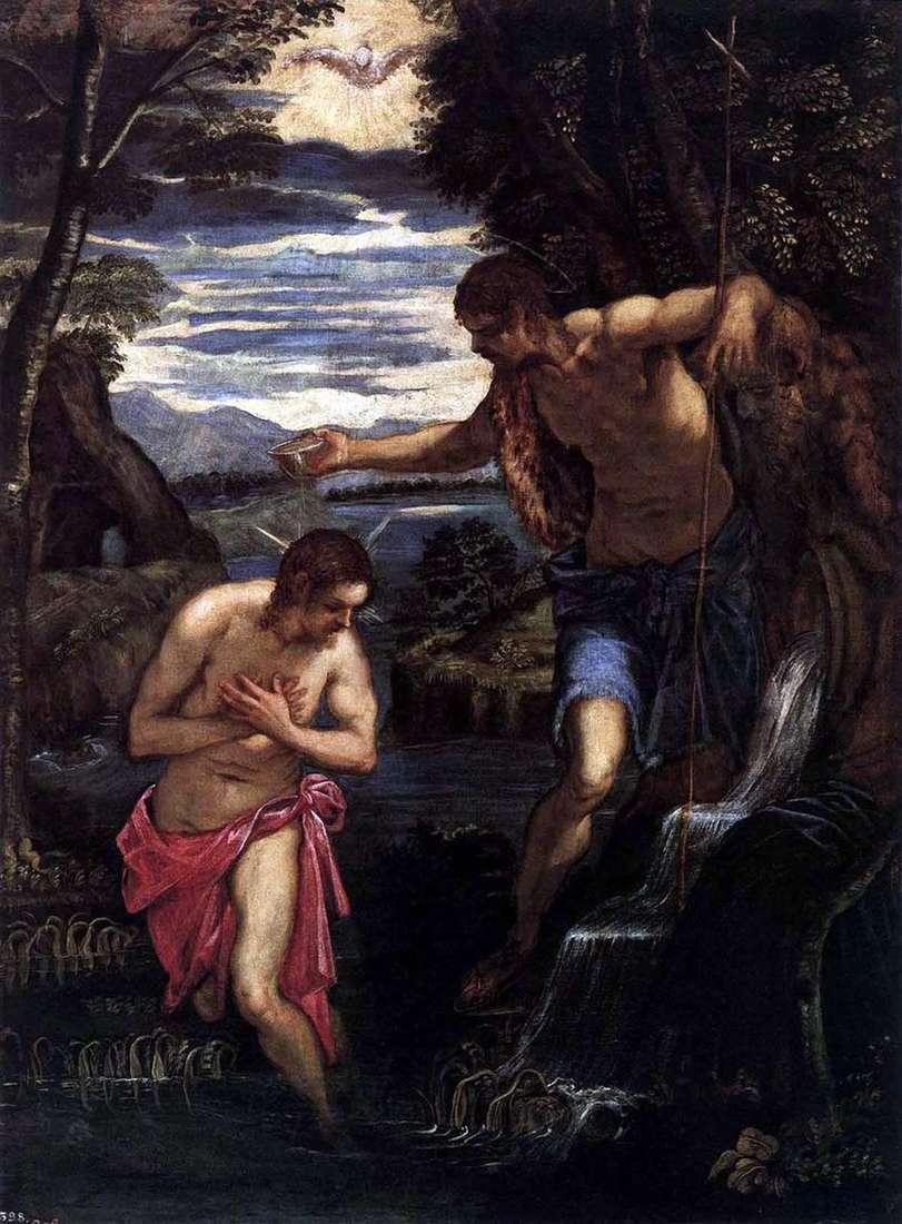 معمودية المسيح   جاكوبو تينتوريتو
