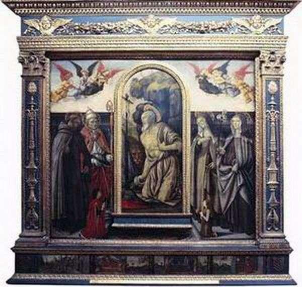 التوبة sv. جيروم مع القديسين والمتبرعين   فرانشيسكو بوتيشيني