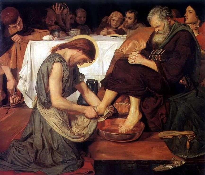 غسل يسوع أقدام بيتر   فورد مادوكسون براون