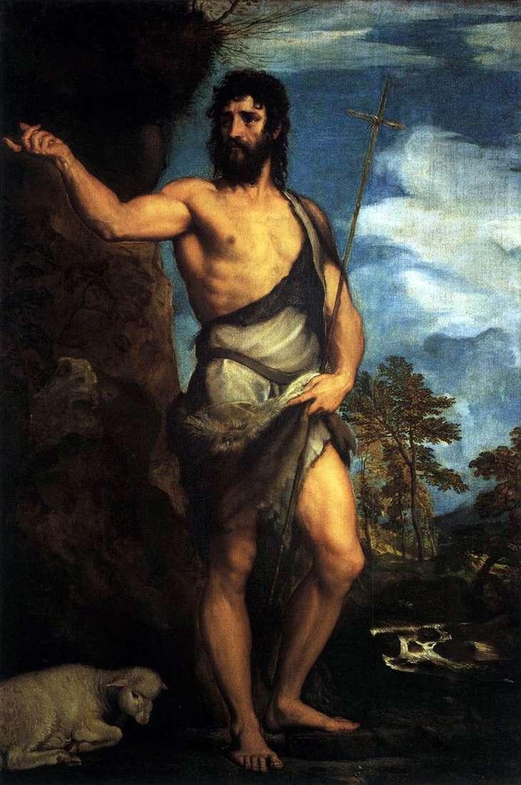 القديس يوحنا المعمدان في البرية   تيتيان فيسيليو