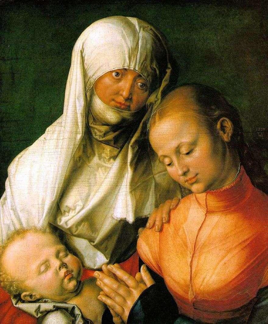 مريم العذراء مع الطفل وسان آن   ألبريشت دورر