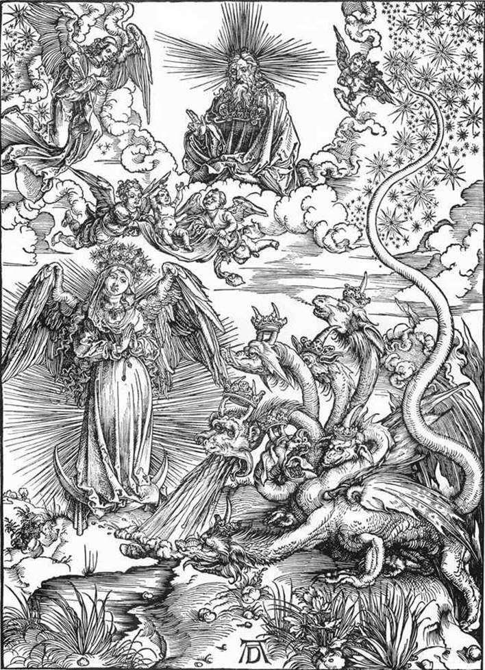امرأة الشمس والتنين ذي الرؤوس السبعة   ألبريشت دورر