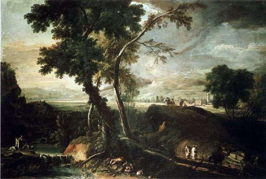 المناظر الطبيعية مع تيار   ماركو ريتشي