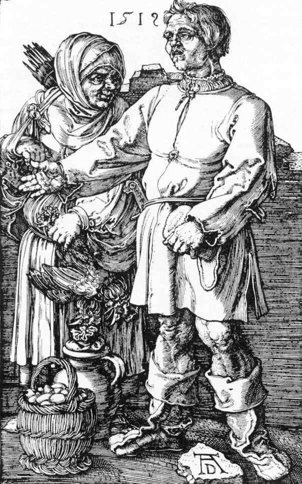 الفلاح وزوجته في السوق   ألبريشت دورر
