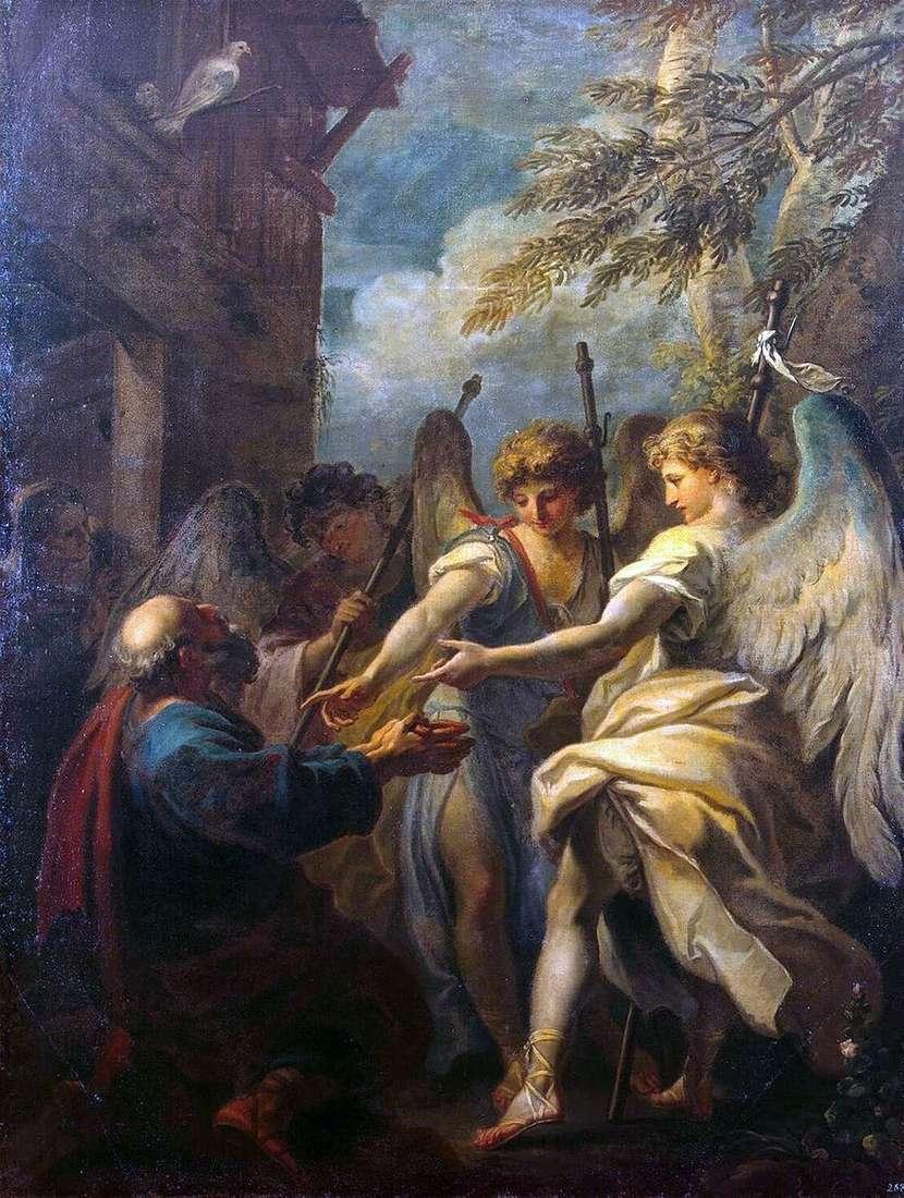 إبراهيم والملائكة الثلاثة   سيباستيانو ريتشي