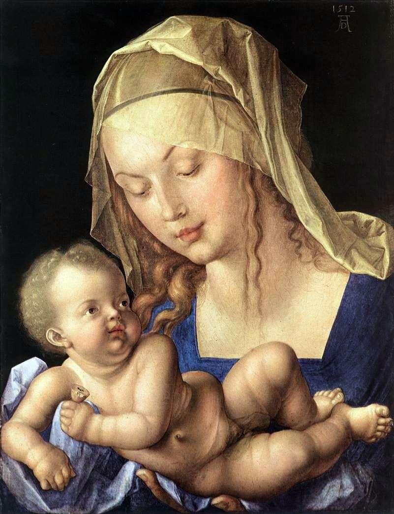 مادونا والطفل مع الكمثرى   ألبريشت دورر