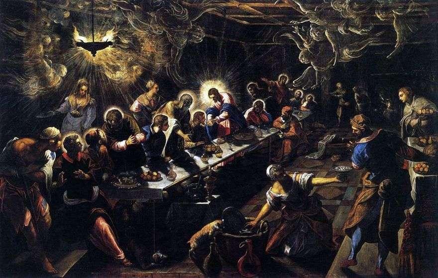 العشاء الأخير   جاكوبو تينتوريتو