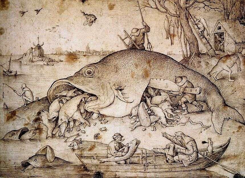 سمكة كبيرة تأكل صغيرة   بيتر Bruegel