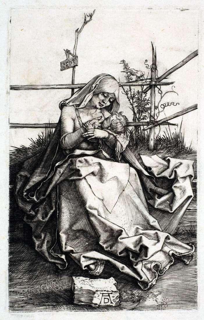 ماريا على مقعد العشب   ألبريشت دورر