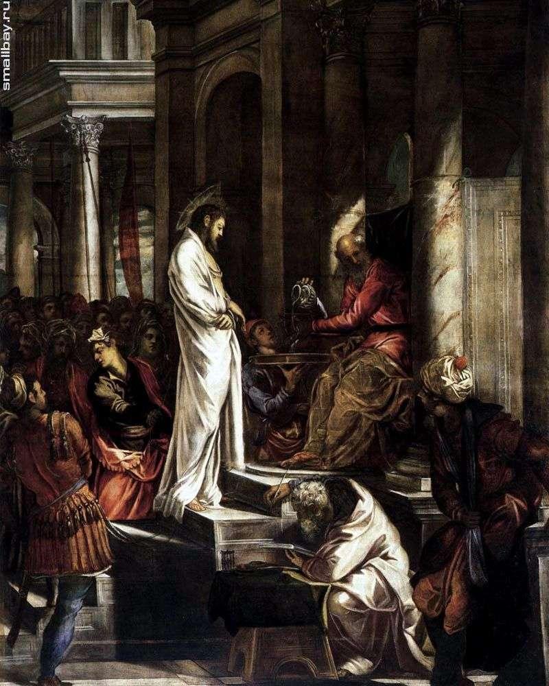 المسيح قبل بيلاطس   جاكوبو تينتوريتو