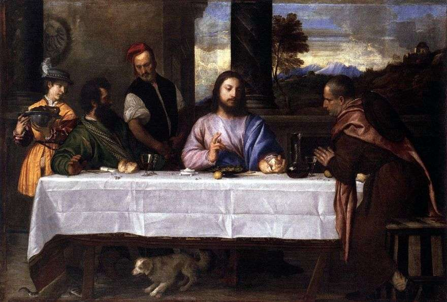 عشاء في Emmaus   تيتيان فيسيليو