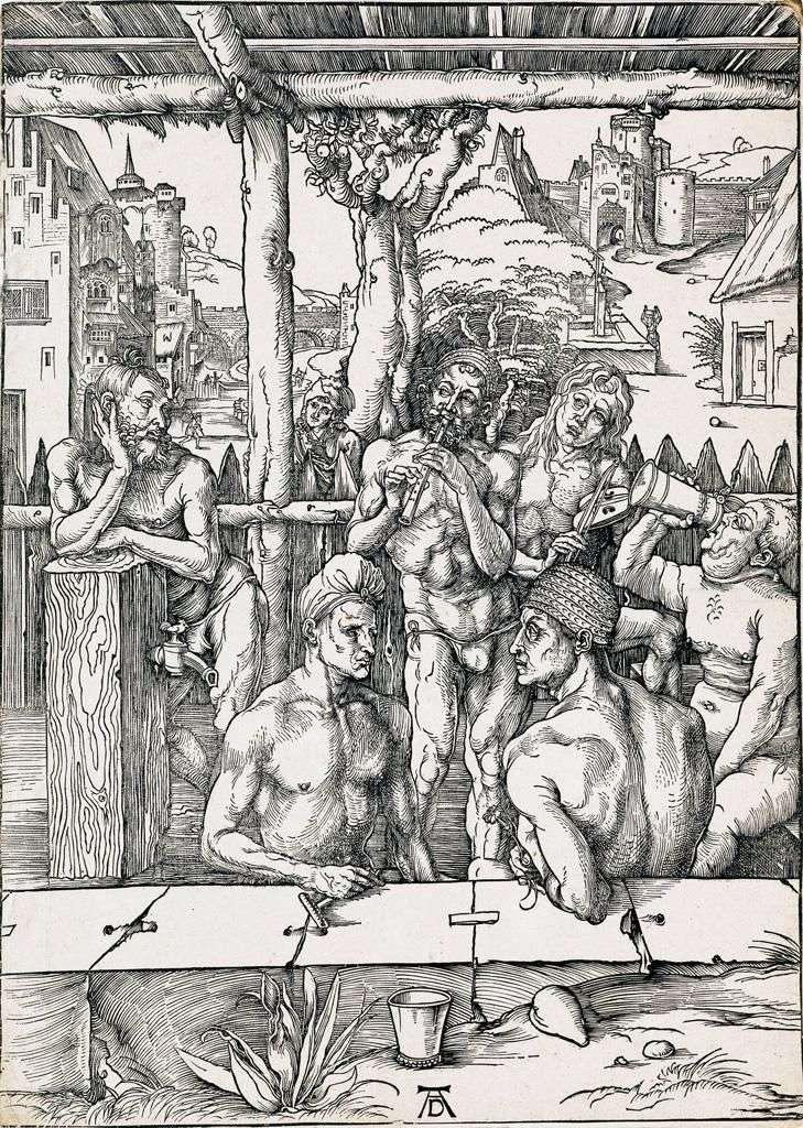 حمام الرجال. نقش   ألبريشت دورر