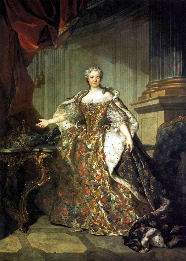 ماريا لشينسكايا ، ملكة فرنسا ، زوجة لويس الخامس عشر   لويس توكي