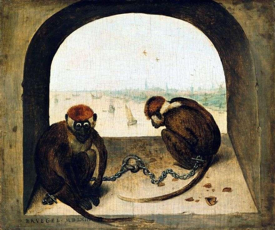 اثنين من القرود   بيتر Bruegel