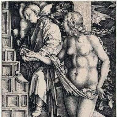 الإغواء كسول. نقش   ألبريشت دورر