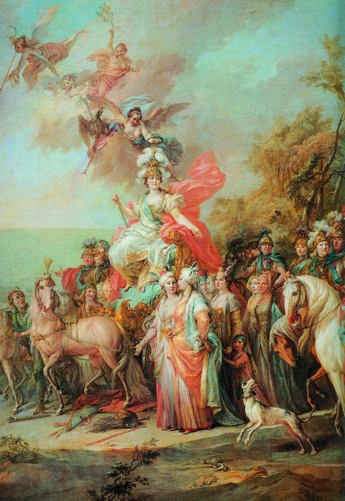 رمزية انتصار كاثرين الثاني على الأتراك والتتار   ستيفانو توريلي