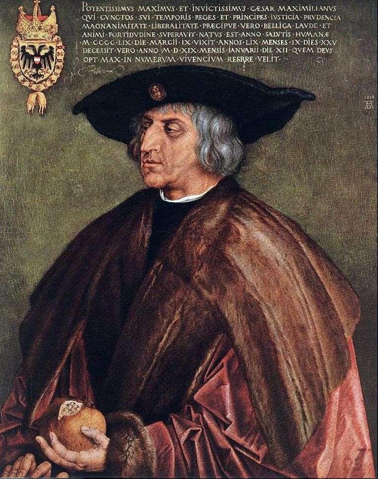 صورة الإمبراطور ماكسيميليان الأول   ألبريشت دورر