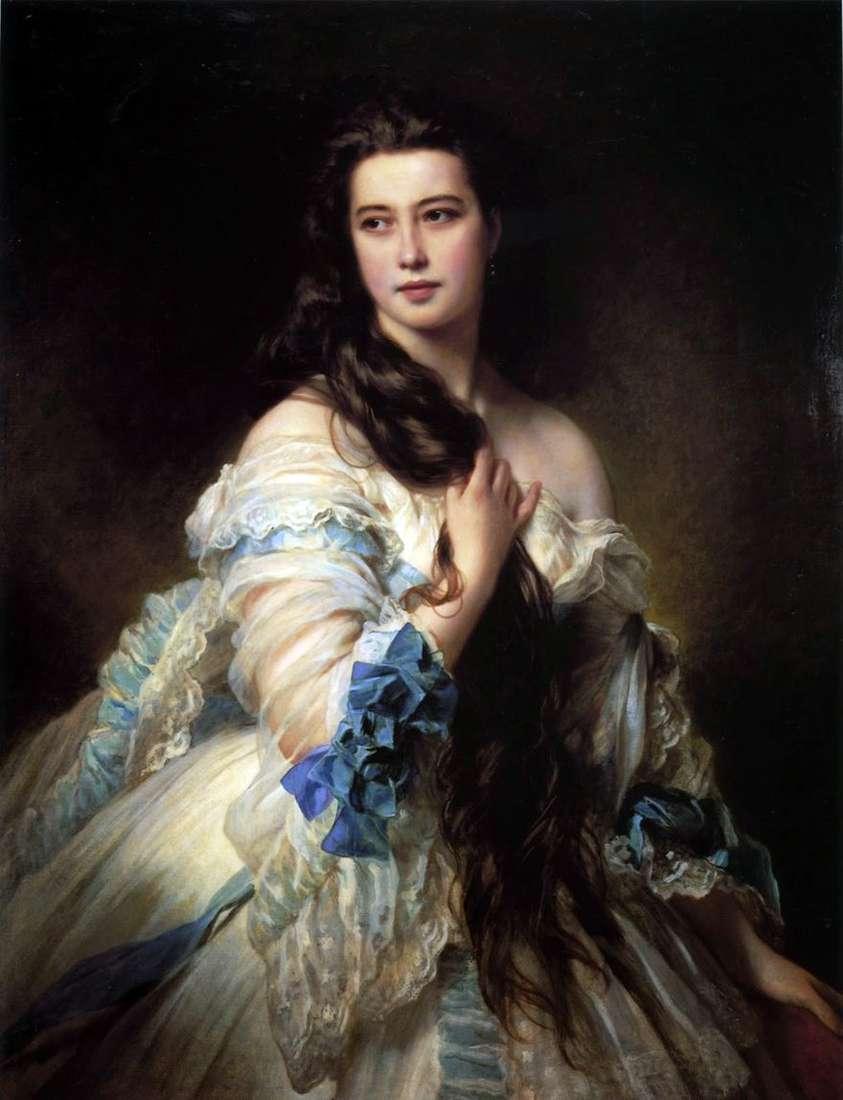 صورة لـ V. D. Rimskaya Korsakova   Franz Xaver Winterhalter