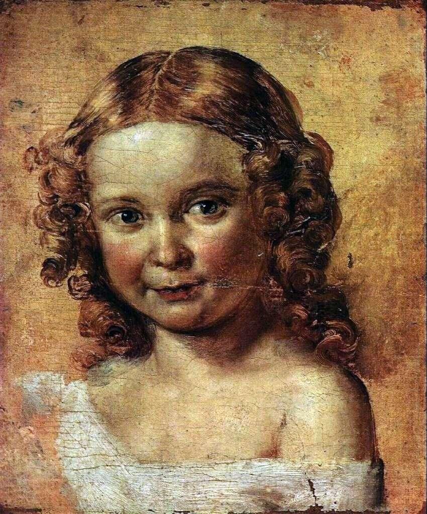 رأس فتاة (دراسة لصورة إرشوفا وابنتها)   فاسيلي تروبينين