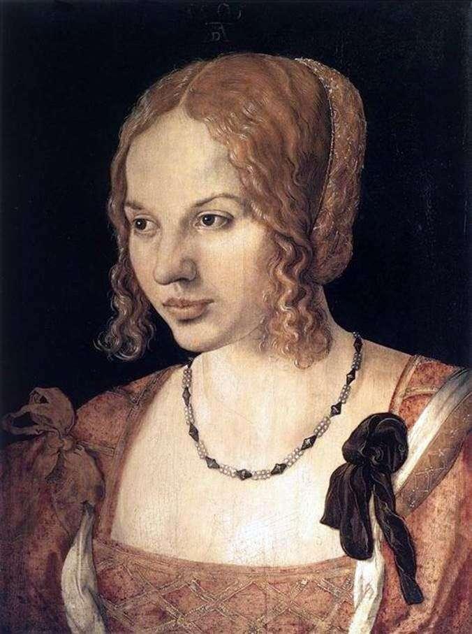 صورة لامرأة شابة من مدينة البندقية   ألبريشت دورر